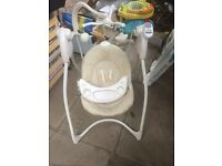 Graco baby swing seat to give away