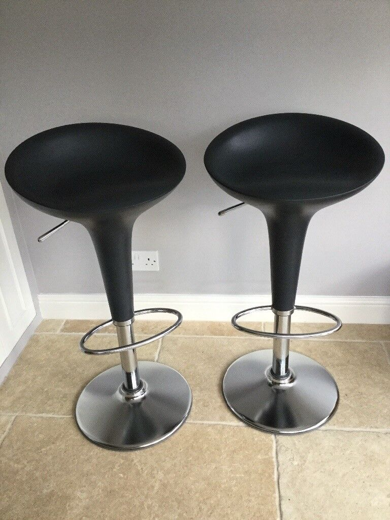 2 Magis Designer Bar Stools From John Lewis For Kitchen Or Breakfast Charcoal Black