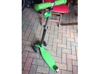 Lime Green and Black Micro Scooter