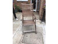 6 wooden chairs with cushions