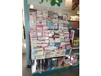 2 x Greeting cards display with extensive assortment of cards