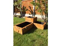 3 tier wooden planter