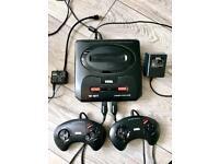 Sega Mega Drive II Bundle Megadrive 2 + Games + Controllers + Cables RARE RETRO