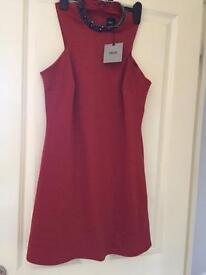 UNUSED burnt orange size 8 ASOS dress