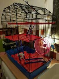 Large hamster cage plus accessories