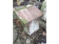 Liverpool red stone kneeler