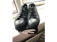 Black Leather Converse Size 8