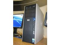 Gaming PC / Workstation HPZ400 £200 ONO IntelXeon 20gbRAM (2 SSD's) with HD monitor keyboard mouse