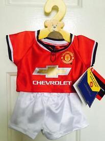 Brand New Build a Bear Man Utd Kit