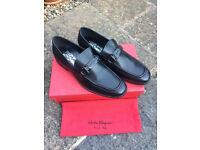 Salvatore Ferragamo Gancio Bit Loafer Shoe Size 7.5 UK Colour Black