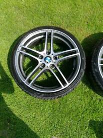 2 Bmw 19 alloys wheels 313 style 5x120 with nearly new tyres