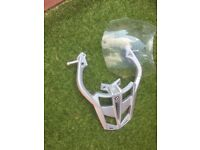 genuine bmw f800s grab /luggage rack and original clear screen