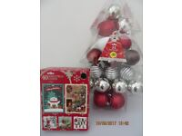 CHRISTMAS BAUBLES & CHRISTMAS CARDS