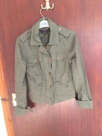 Khaki jacket new look size 8