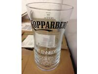 We are selling a variety of beer and cider pint glasses Stella Artois, Grolsch and Kopparberg