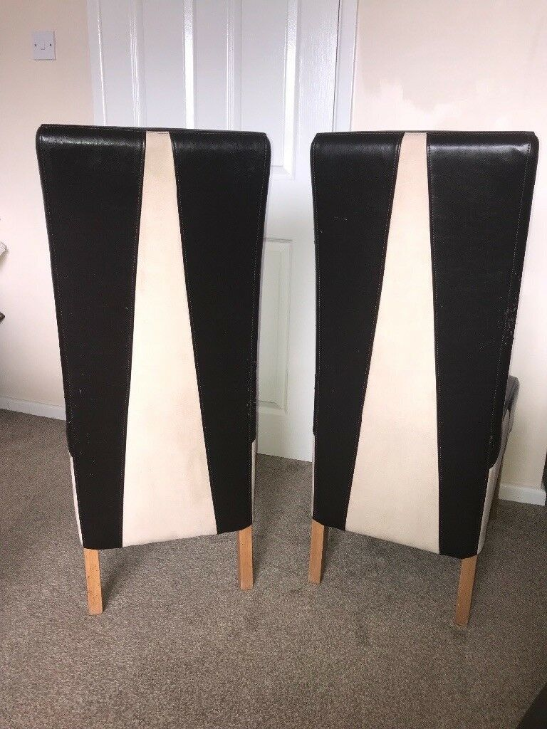 x6 Leather & Suede Dining Room Chairs