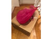 Pink 'Julien Macdonald' fascinator (worn once, in box)