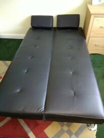 Faux leather Black Sofa Bed
