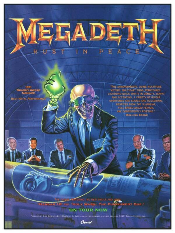 Megadeth - POSTER - Rust In Peace Promo Ad - Thrash Metal  - Dave Mustaine