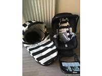 Baby Style Oyster accessories (carry cot pram and Britax Babysafe car seat)