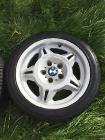 Bmw motorsport 17 alloys, 4 wheels 3 with Tyers, do some one for a project m3