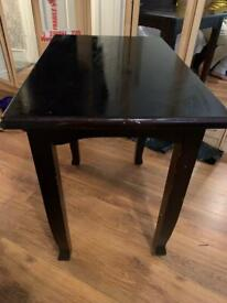 Table deep brown/black