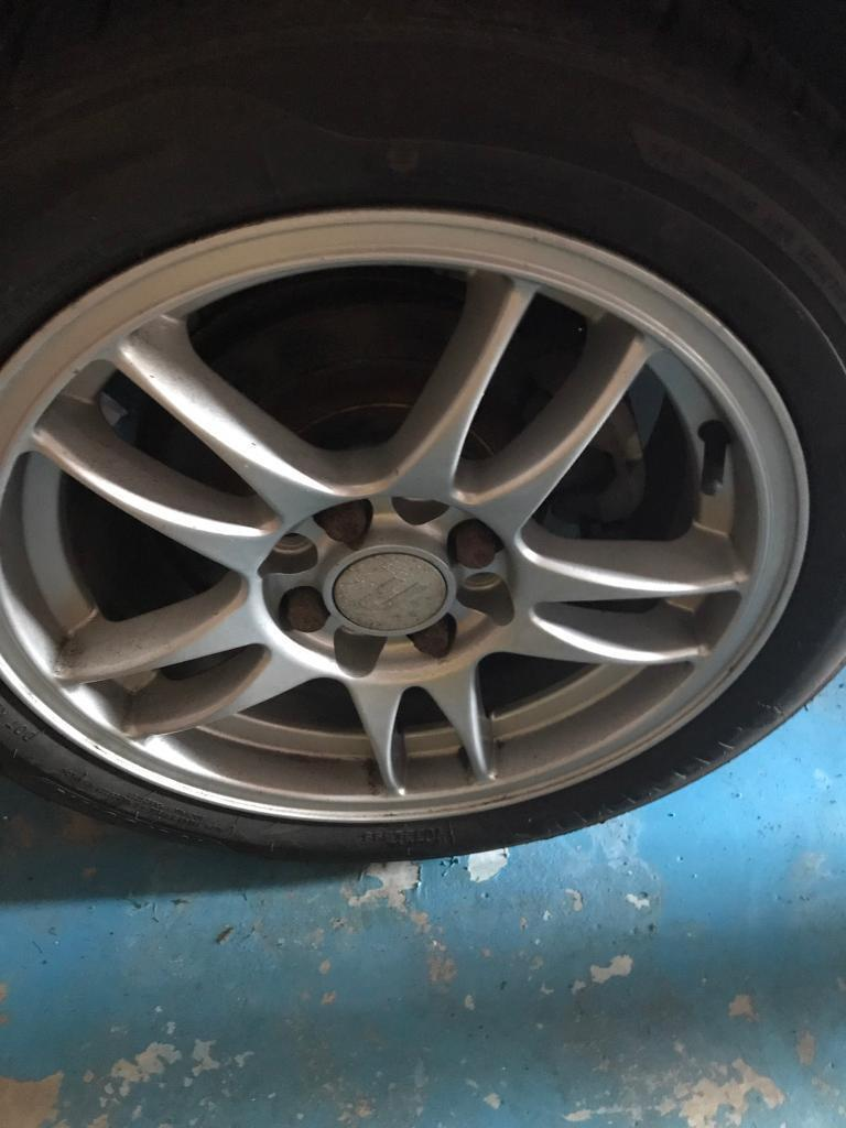 4 Alloy wheels with tyres for MX5