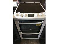 Zanussi ZCV550 55cm Double Electric Cooker in White #3350