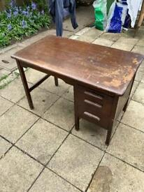 Solid wooden desk ideal for up cycling