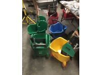 Joblot of 7 24 litre bison bucket and wringer SIR interchange