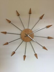 Vintage wall clock in the shape of a star