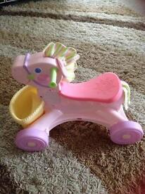 Ride on musical pony