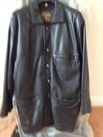 man's leather coat
