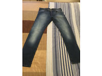 Men's 34L Jack Jones NEW WITHOUT TAGS! Glenn Slim Fit Mid Blue, With Fading, Stretch Jeans RRP £65