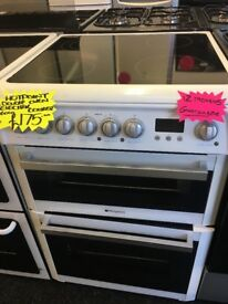 HOTPOINT 60CM CEROMIC TOP ELECTRIC COOKER IN WHITE
