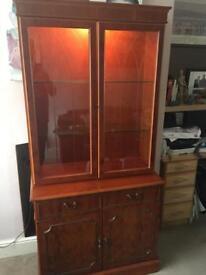Mahogany Display Dresser