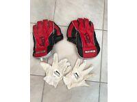 Kookaburra wicket keeping cricket gloves