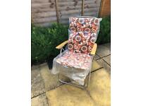 Vintage Reclining Garden Chair or Lounger