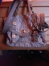Brown zebra print bag