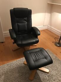 Armchair with stool for sale