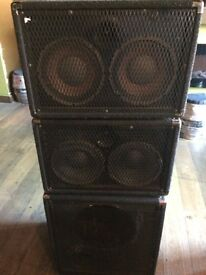 """Peavey Bass Cabs 2 x 2 10TX + Unloaded 15"""" Cab"""