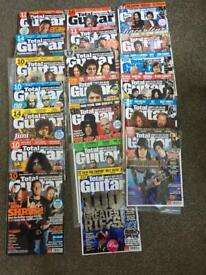 20 Total guitar magazines as pictured