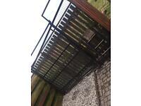 Dog run with gate..