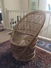 Lovely Peacock Wicker Chair