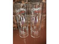 Carling pint/half glasses