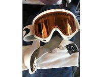 Ladies White Oakley Ski Mask