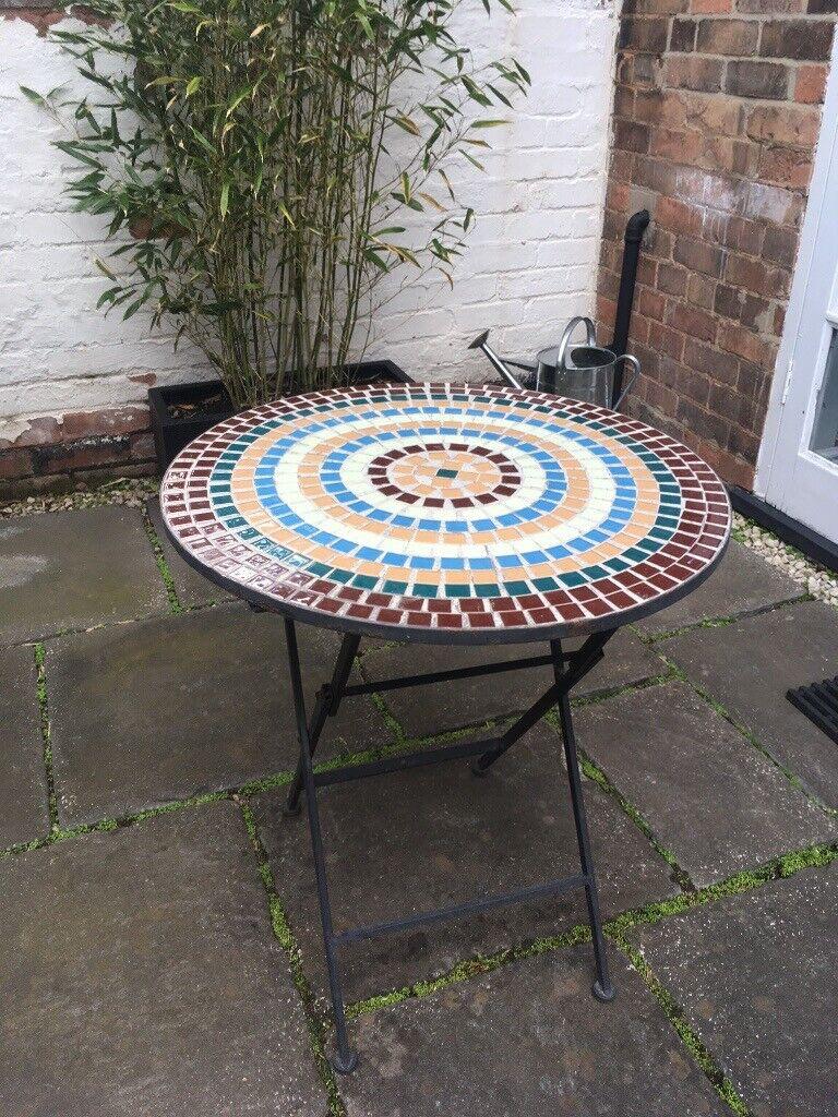 tiled table garden furniture