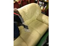 Two seater leather sofa - must collect