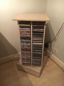 Maple wood rotating CD unit