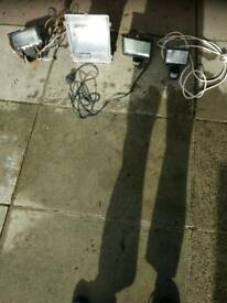 Job lot of security lights